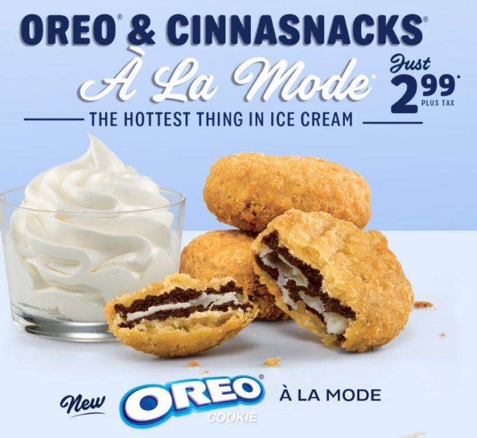 Fried Oreos a l mode Sonic